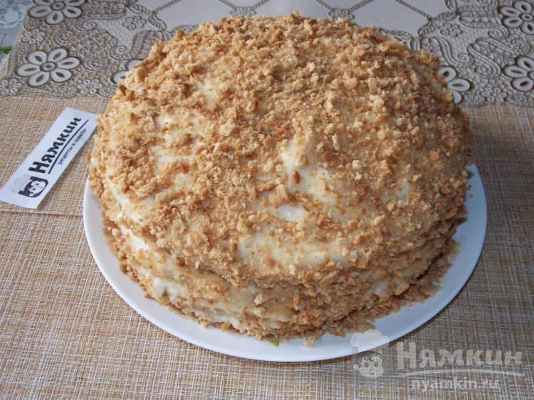 Торт Рыжик с заварным кремом в духовке