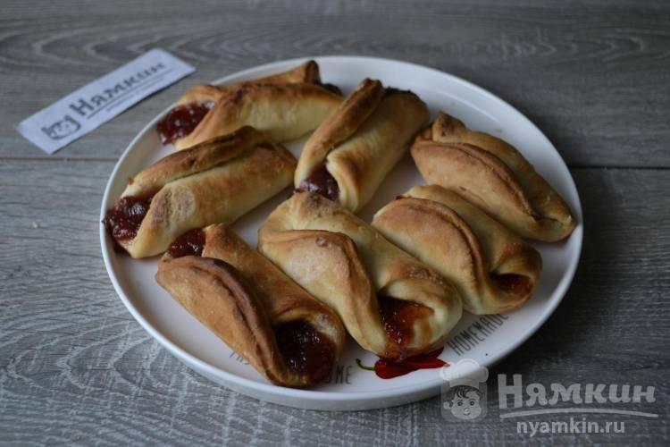 Домашнее печенье на кефире и растительном масле с джемом