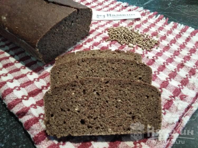 Ржаной хлеб на закваске с тмином и зернами кориандра
