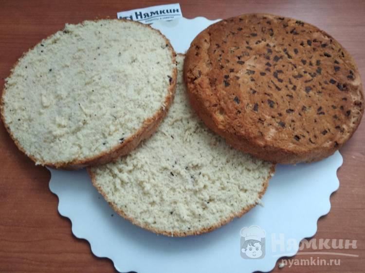 Ванильный бисквит с шоколадной крошкой