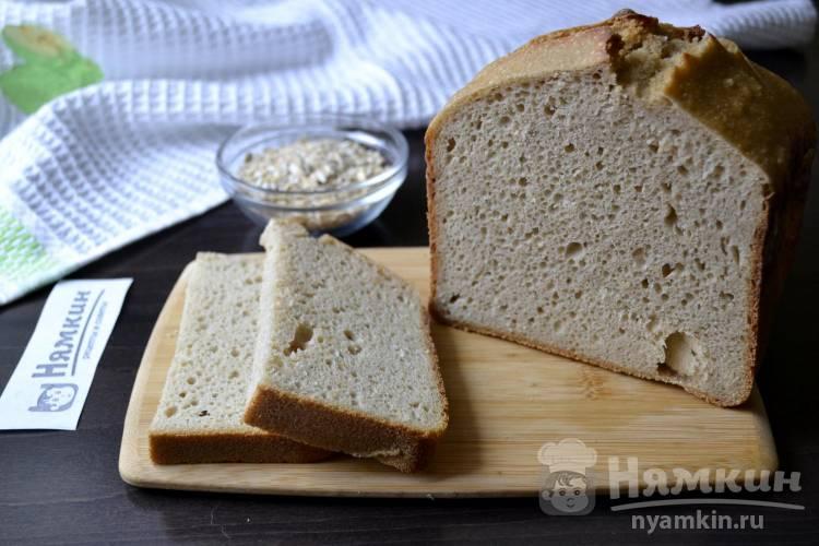 Хлеб из овсяной и пшеничной муки на ржаной закваске в хлебопечке