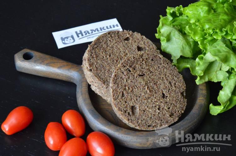 Кето хлеб из льняной муки в микроволновке