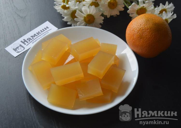 Апельсиновый мармелад без сахара на желатине