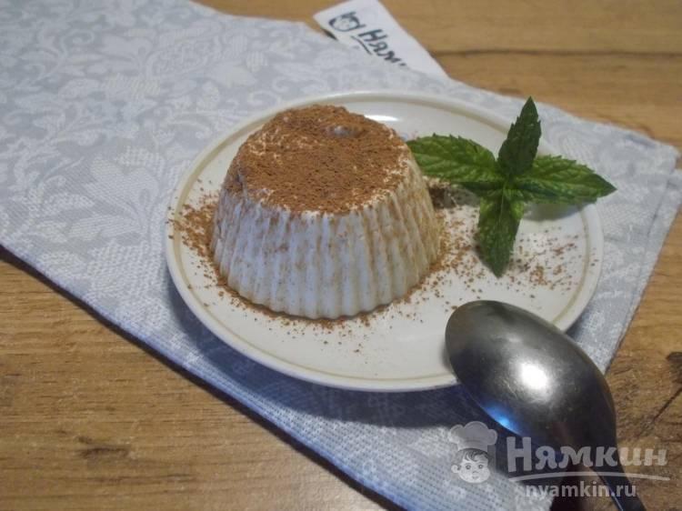 Десерт из творога с подсластителем на желатине