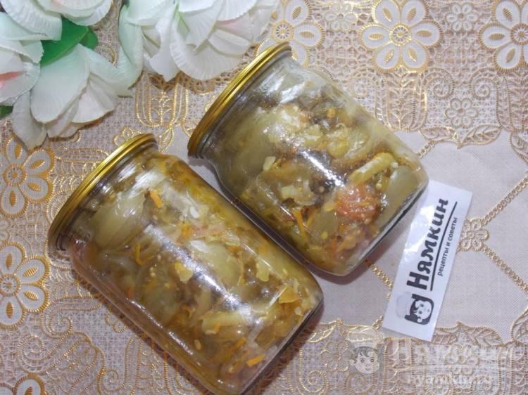 Салат из зеленых помидоров с чесноком и петрушкой на зиму