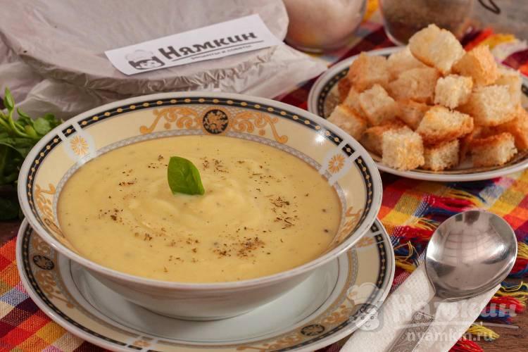 Французский картофельный суп Пармантье из лука порея