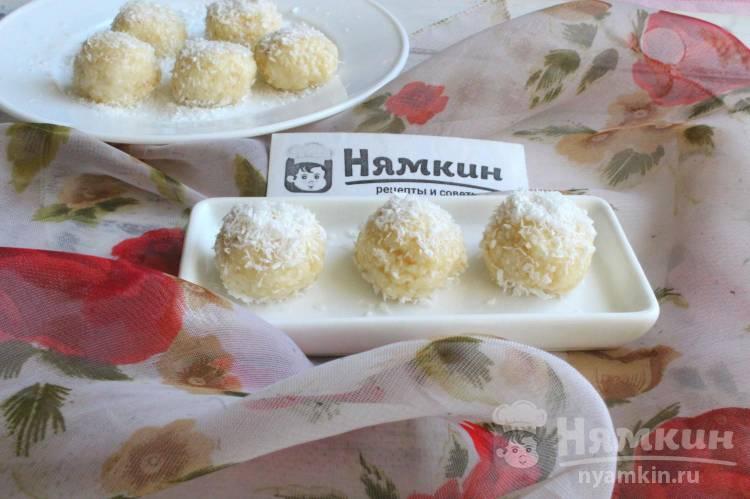 Быстрые кокосовые конфеты на сгущенном молоке к чаю