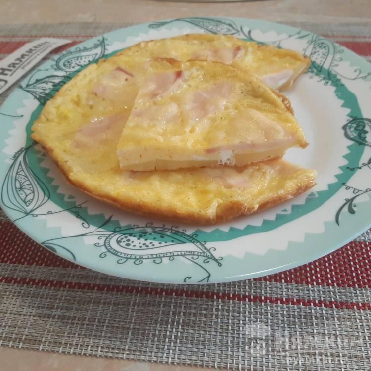 Быстрый завтрак из картофеля, колбасы и яиц на сковороде
