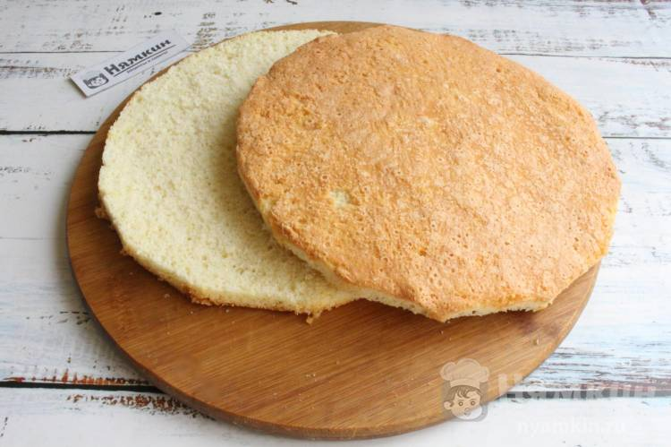 Ванильный бисквит с коньяком для тортов и пирожных