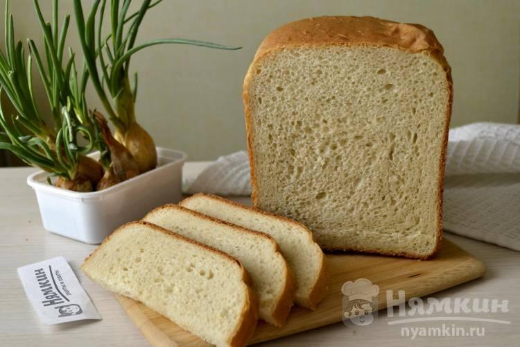 Пшеничный молочный хлеб на дрожжах в хлебопечке