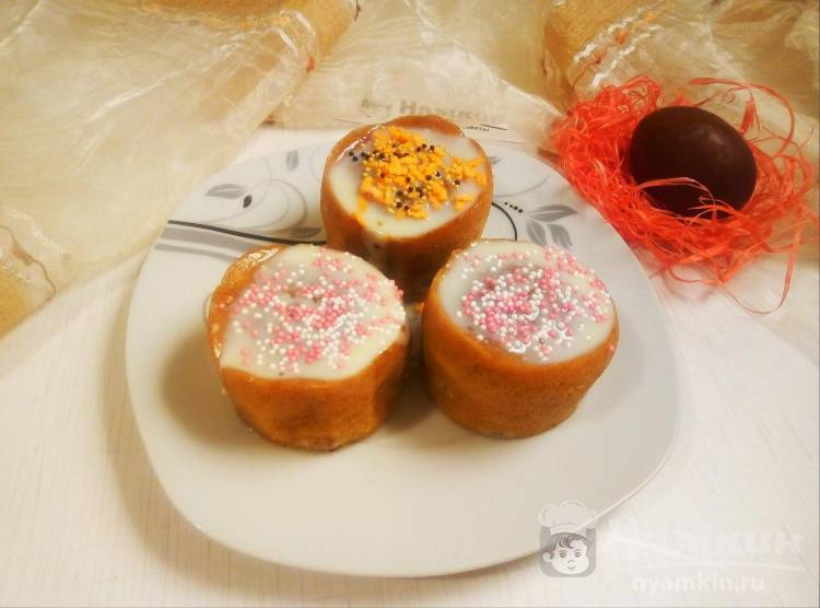 Пасхальные кексы с изюмом в пароварке