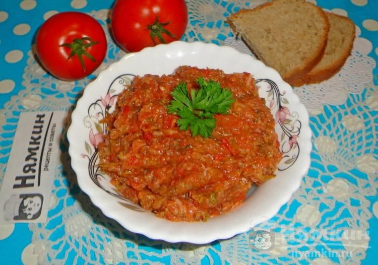 Хреновина из кабачков, хрена и помидоров на зиму