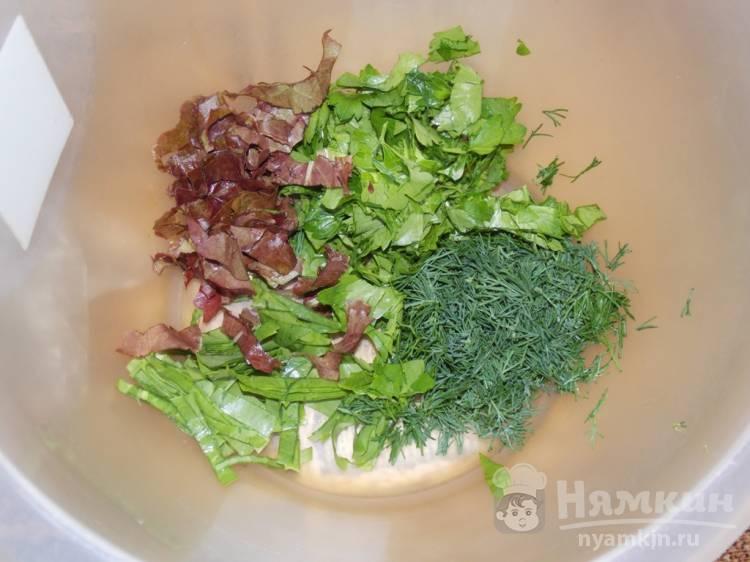 Овощной салат с зеленью и соевым соусом - фото шаг 1