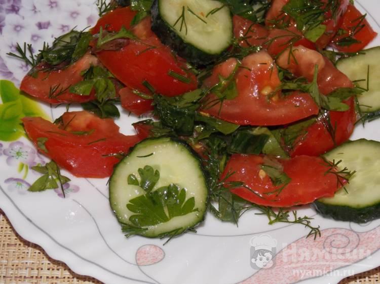 Овощной салат с зеленью и соевым соусом - фото шаг 5