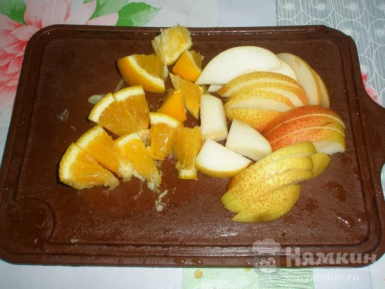 Компот из груш и апельсина - фото шаг 1