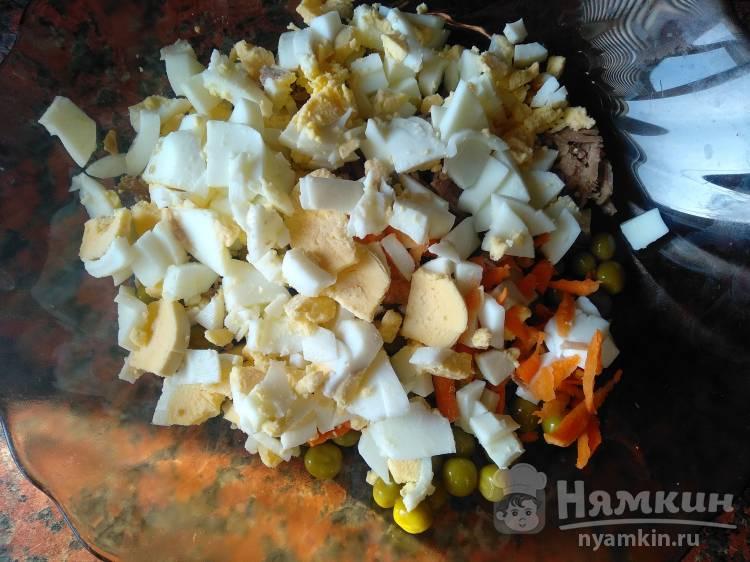 Мясной салат с грецкими орехами - фото шаг 2